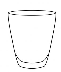 How To Draw A Glass Of Water Easy