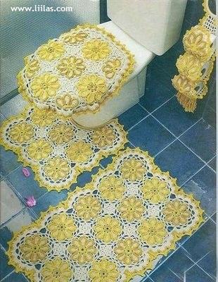 اطقم كروشيه للحمامات